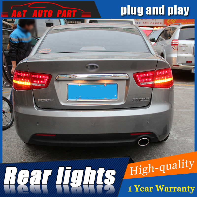 Car Styling for Kia Forte Taillights 2010 2013 Forte LED Tail Lamp Cerato LED Rear Lamp DRL+Brake+Park+Signal led light.