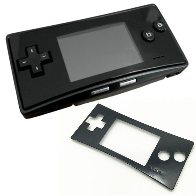 3 colors Game console panel replacement For Nintend Replacement Chrome Front Shell Housing Case Faceplate for GameBoy Micro