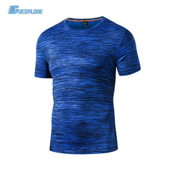 Goexplore Men Running T shirt Fitness Short Sleeve Top Quick Dry Breathable Absorb sweat Sport Hiking Outdoor T-shirt Male