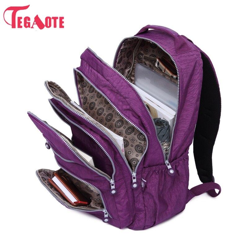 где купить TEGAOTE School Backpack for Teenage Girl Mochila Feminina Kipled Women Backpacks Nylon Waterproof Casual Laptop Bagpack Female по лучшей цене