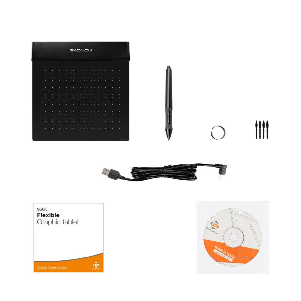 Nueva GAOMON S56K Tableta digital flexible de 6 pulgadas Mini USB - Periféricos de la computadora - foto 5