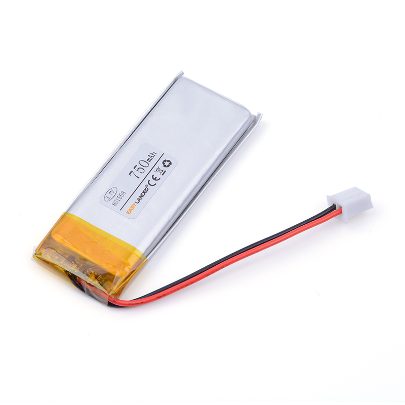 XH2.54 750mAh 801558 3.7V lithium polymer battery point reading pen Bluetooth computer students battery pack medical device