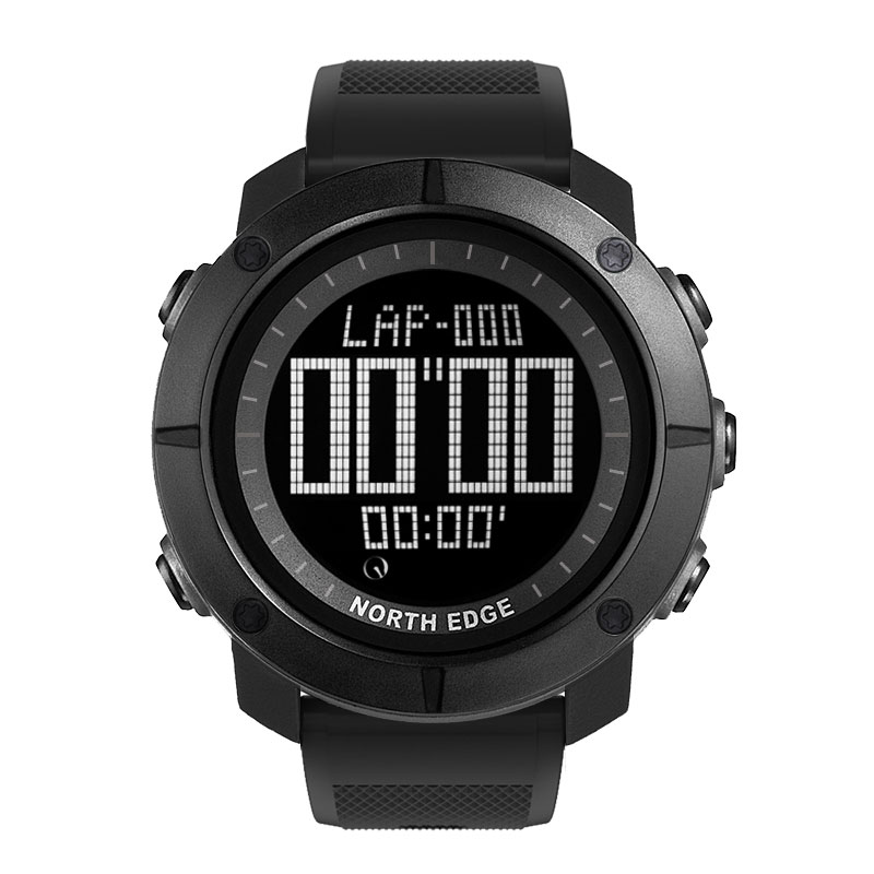 Man sports Digital military army watch Hours Running Swimming watches waterproof depth 50m stopwatch timer NORTH EDGE in Digital Watches from Watches