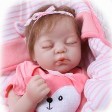 NPK Bebe Silicone realistic reborn 50cm Reborn Baby Doll kids Playmate Gift For Girls new year toys soft body boneca reborn baby 22 inch baby reborn doll toys full body soft silicone vinyl non toxic safe realistic bebe newborn doll toys best gift for girls