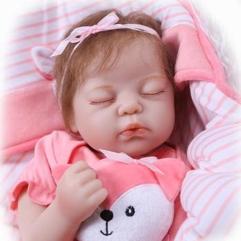 NPK Bebe Silicone realistic reborn 50cm Reborn Baby Doll kids Playmate Gift For Girls new year toys soft body boneca reborn baby npk boneca reborn baby doll black simulation baby vinyl silicone touch best gift for children friends on birthday gift
