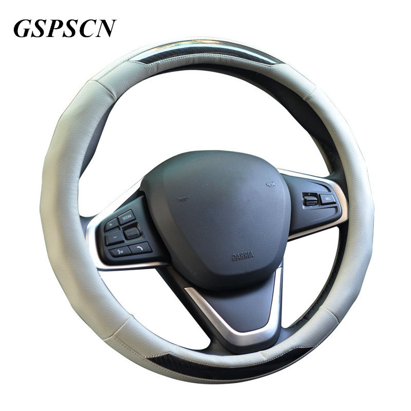 GSPSCN Reflective Movement Luxurious Steering Wheel Cover with Massage Mat Anti-slip For 38CM/15inch Car Styling Steering-wheel