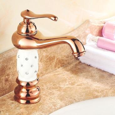 Us 690 Christmas Rose Gold Diamond Lantern Brass Bathroom Vanity Sink Basin Torneira Banheiro Cozinha Faucets Mixers Taps Up 1314s In Basin