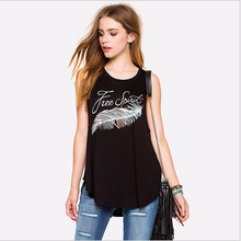 New arrival European and American style women tank tops sexy punk gold leaf letters  prined street top quality  for women