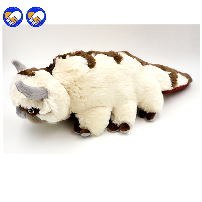 A toy A dream 50CM Big Size Anime Kawaii Avatar Last Airbender Appa Plush Toy Soft Juguetes Stuffed Animal Brinquedos Doll Toys kawaii big stuffed