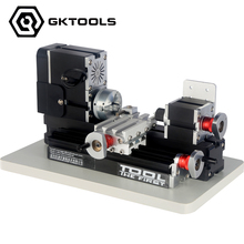 12000RPM, 60W  Electroplated  Mini Metal Lathe Machine ,As DIY tool, it's the best gift for children and students. TZ20002MP
