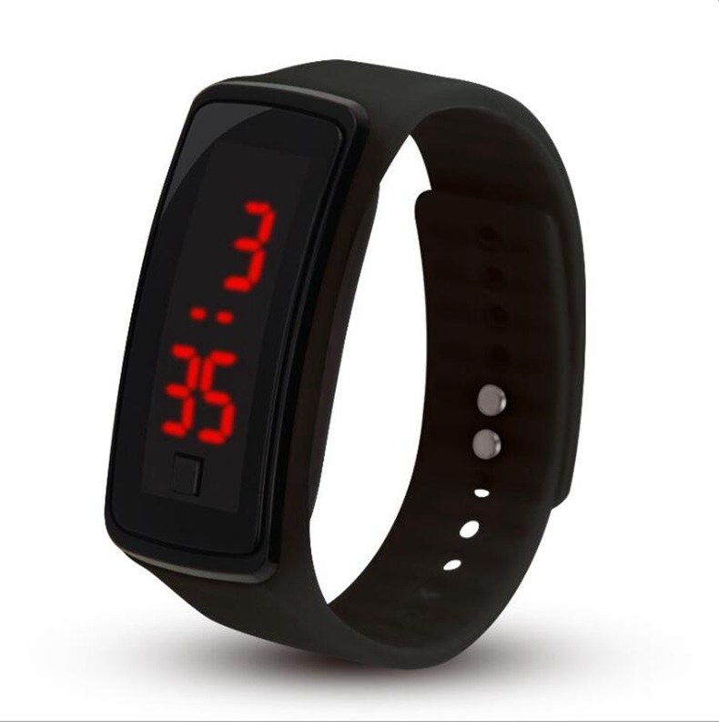Fashion Mens Women Kids Students Silicone Rubber Soft Sport Led Digital Watches Touch Screen Boys Girls Bracelet Wrist Watches Watches