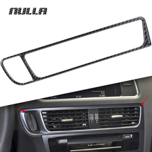 NULLA Carbon Fiber Center Control Air Conditioning Vent Outlet Cover Key Hole Frame for AUDI Q5 2010 2012 2013 2014 2015 2016