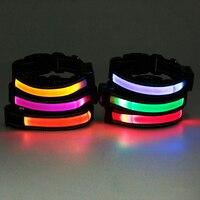 Solar And USB Rechargeable LED Dog Collar Night Flashing Safety Pet Cat Dog Collar Led Luminous