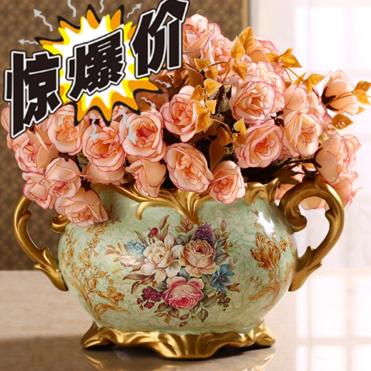 Living Room Decoration American Crafts Decoration Ceramic Small Dry Vase Flower