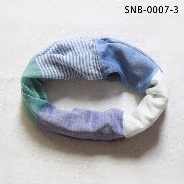 2016 Женщины Дамы Snood Платки Femme Дизайнер Цикл Шарф Белый и Синие Полосы Шаль Обруча Шарфа Шеи Круг Шаль Snood шарфы