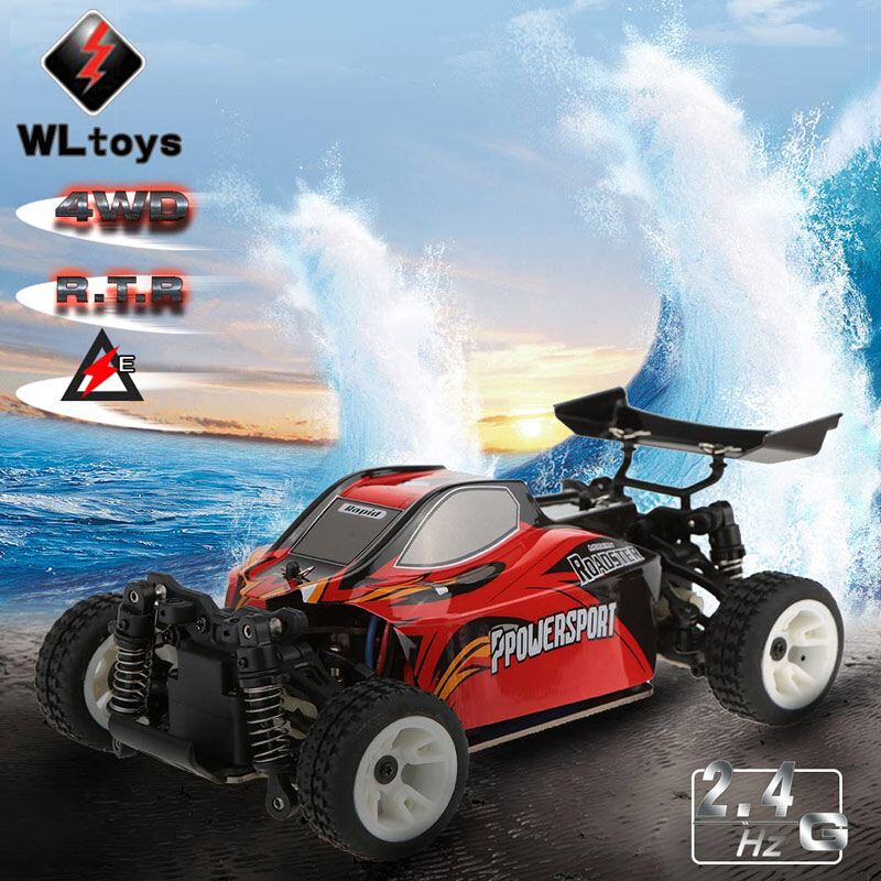 WLtoys A202 RC Car Off-road Buggy 1:24 scale 2.4G Electric Brushed 4WD RTR hongnor ofna x3e rtr 1 8 scale rc dune buggy cars electric off road w tenshock motor free shipping