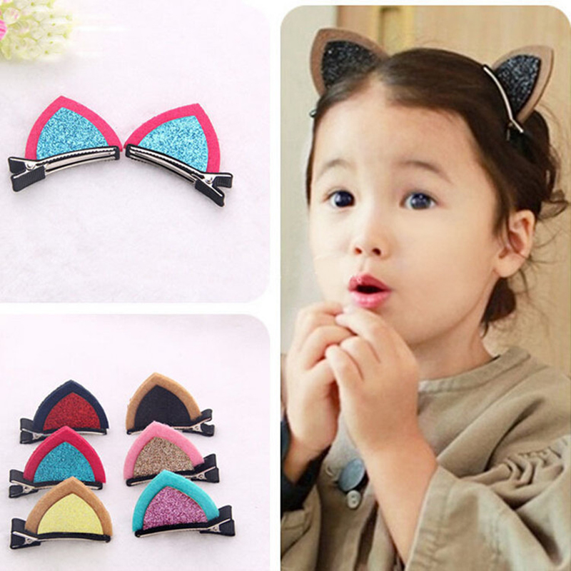 6Pcs Novelty Cute Ears Headwear Baby Girl Hair Accessories Hairpins Barrette Cheveux Baby Hair Clips Children Headdress halloween party zombie skull skeleton hand bone claw hairpin punk hair clip for women girl hair accessories headwear 1 pcs