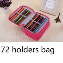 72 portalápices de regalo para niños, bolsa de lápiz de tela con gran capacidad para 72 lápices