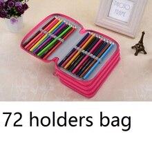 72 מחזיקי עיפרון תיק מתנה לילדים כמו ציור בד עיפרון תיק ענק קיבולת עבור 72 עפרונות