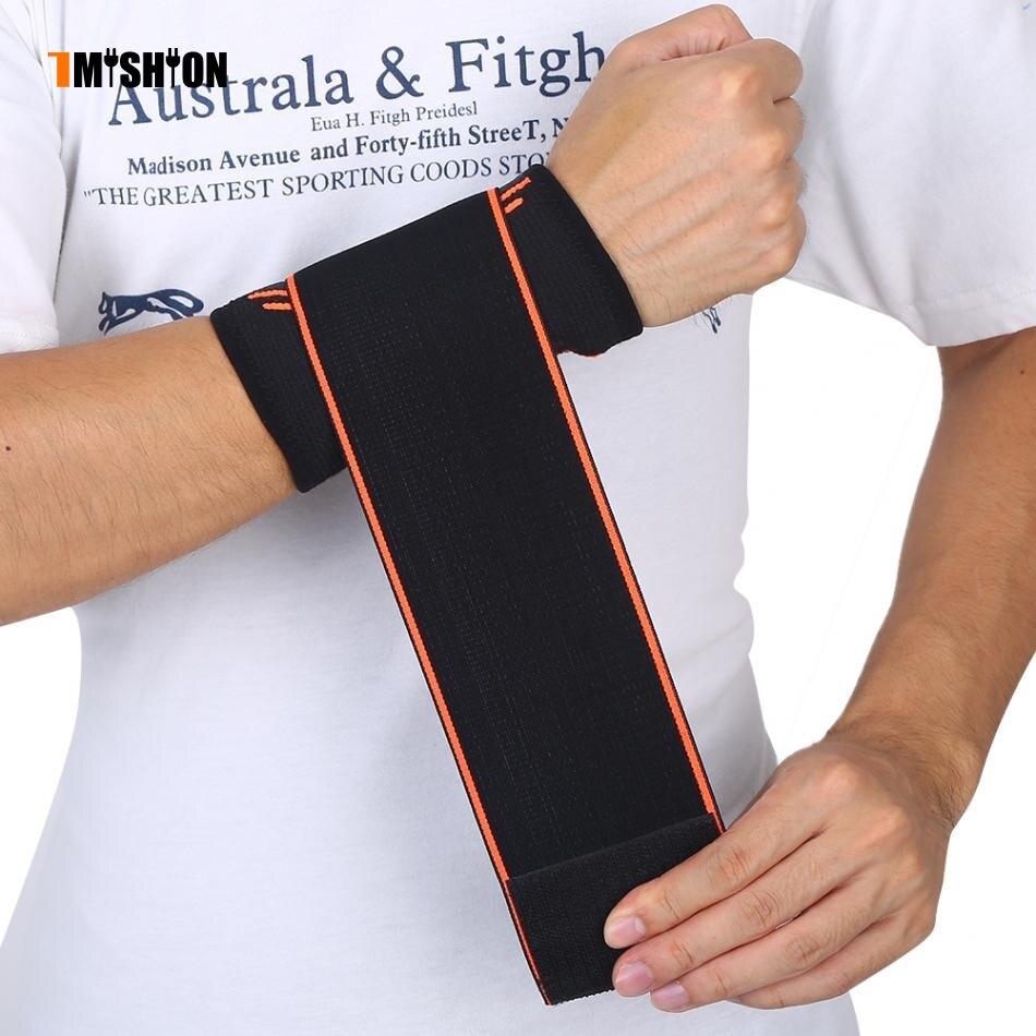 1pc Wrist Brace Support Belt Black Men Women Sports Nylon Wrist Sleeve Support Protector Guard Protective Wristband