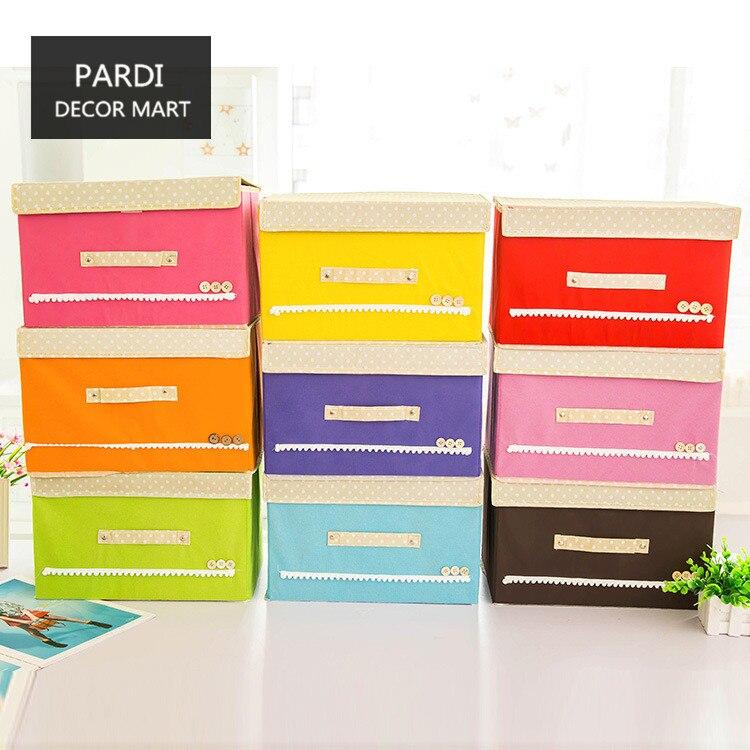Красочные небольшой размер Одежда Коробка для хранения Одеяло коробка для хранения всякой всячины медицинская коробка 1 шт./лот