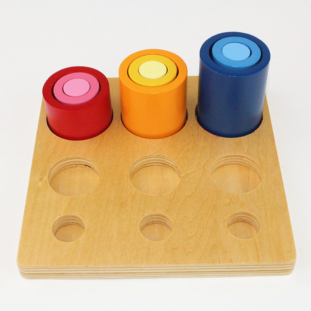Wooden Plate with Different Size Towers