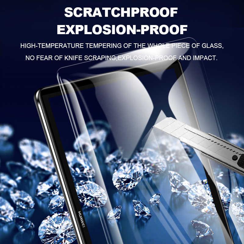 "9D حافة منحنية خفف من الزجاج لهواوي MediaPad M5 lite Pro M6 10.8 8.4 M3 Lite 10.1 8 واقي للشاشة ل MediaPad T5 T3 10"""