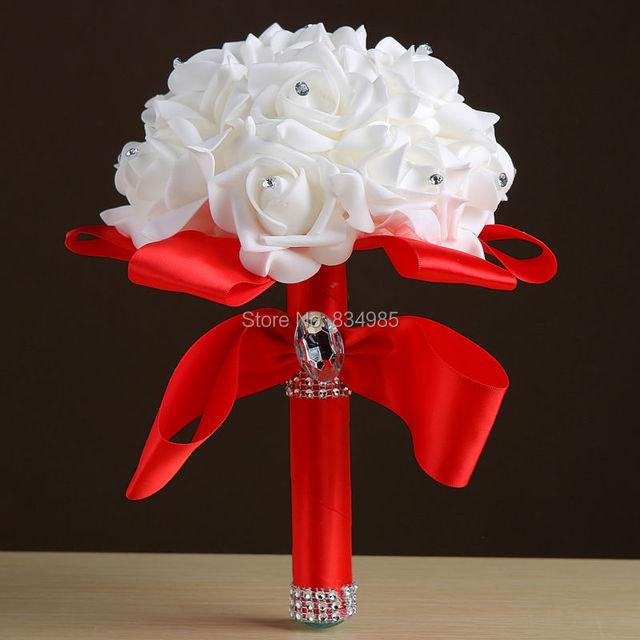 Wedding Bouquet de mariage Bridesmaid Artificial Wedding Bouquets Flower Crystal buque de noiva 2017 Bridal Bouquets