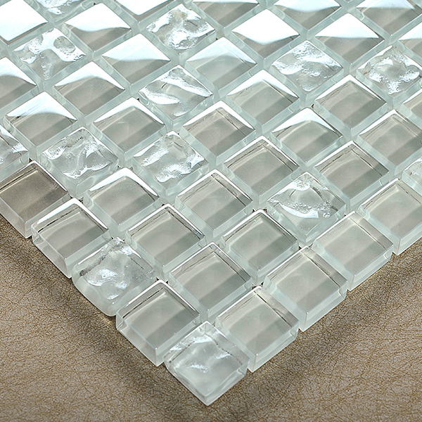 Transparent Crystal Glass Mosaic Tiles Hmgm2090 For Kitchen