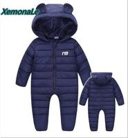 Russian Winter Boys Snowsuit Warm Thick Infant Baby One Pieces Romper Toddler Overalls Cotton Padded Snow