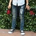 Мальчики весна осень новый бренд детской одежды мальчик джинсы штаны корейской версии большой мальчик брюки для 4 - 15 лет
