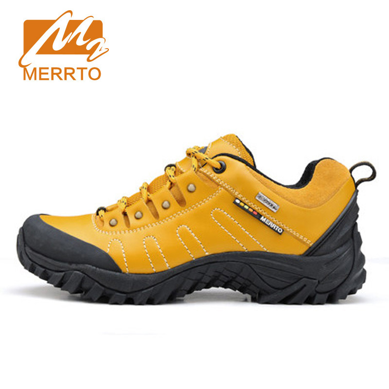 ФОТО MERRTO Women Waterproof Hiking Shoes For Women Sneakers Breathable Women Trekking Walking Shoes Waterproof Mountain Boots Female