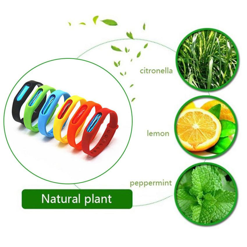 2Pcs Bracelet Anti Outdoor Insect Repellent Repeller Wrist Bands Safe Mosquito Repellent Bracelet Protection Baby Pest Control
