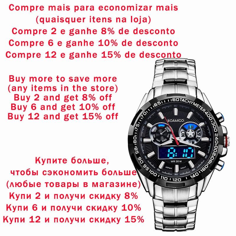 business steel digital quartz watch