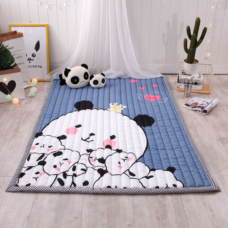 Large Cartoon Soft Baby Play Mat Kids Carpet Rugs Kids Bedroom Floor Mat Boy Girl Carpet Game Mat Baby Activity Mat For Children infant shining play mat nordic style rugs and carpets for living room bedroom soft velvet kid s game mat coffee table carpet