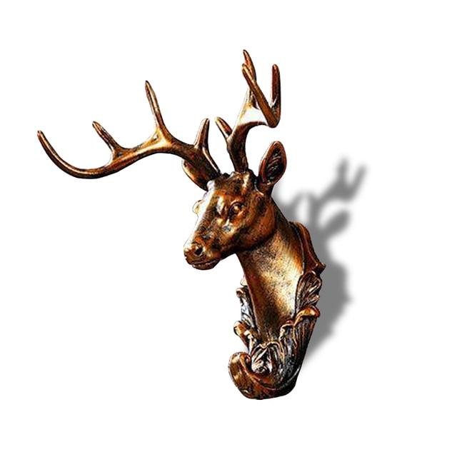 Retro Animals wall hook decor creative home accessories resin hooks ...