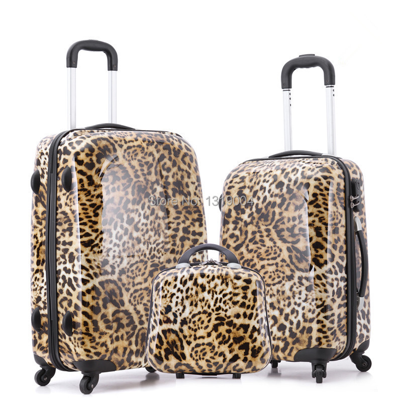 Aliexpress.com : Buy Girl leopard print travel luggage set,14 ...