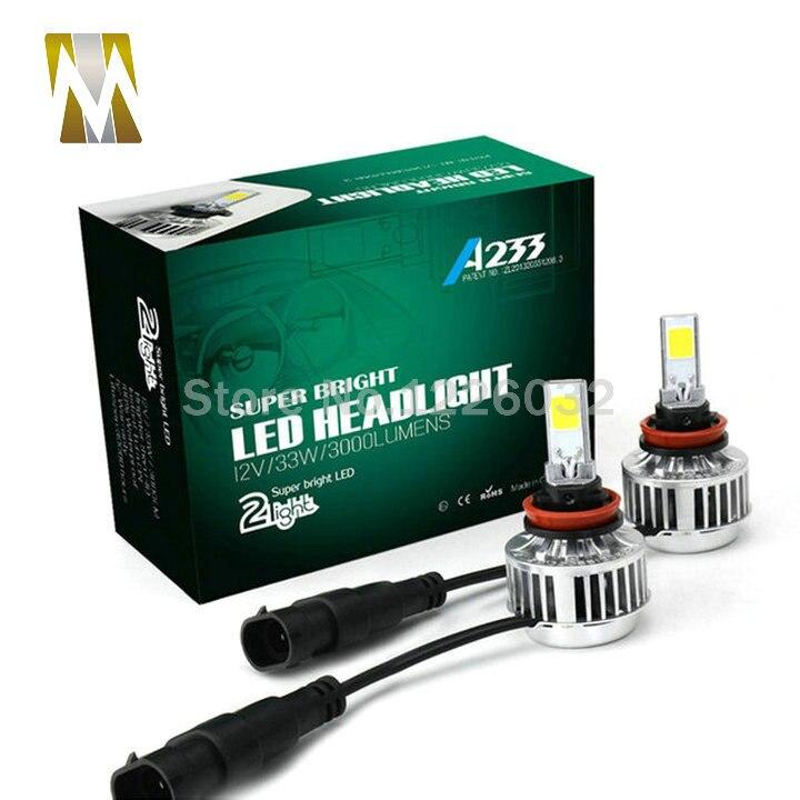 Prix pour Tout-en-Un Voiture Phares H8 H9 H11 LED Auto Avant Ampoule 66 W 6000lm H7/H3/H1 HB3/9005 HB4/9006 Automobiles Projecteur 6000 K/3000 K