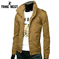 2017 Hot Blazer Lazer masculina Primavera Gola Moda Casual Slim Fit Suit Jacket Top 6 Cores M-XXXL MWJ065
