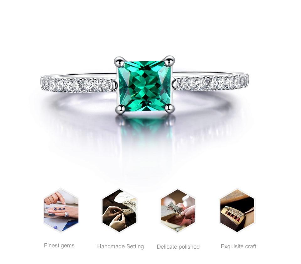HTB1HZRdwZuYBuNkSmRyq6AA3pXah UMCHO Green Emerald Gemstone Rings for Women Genuine 925 Sterling Silver Fashion May Birthstone Ring Romantic Gift Fine Jewelry