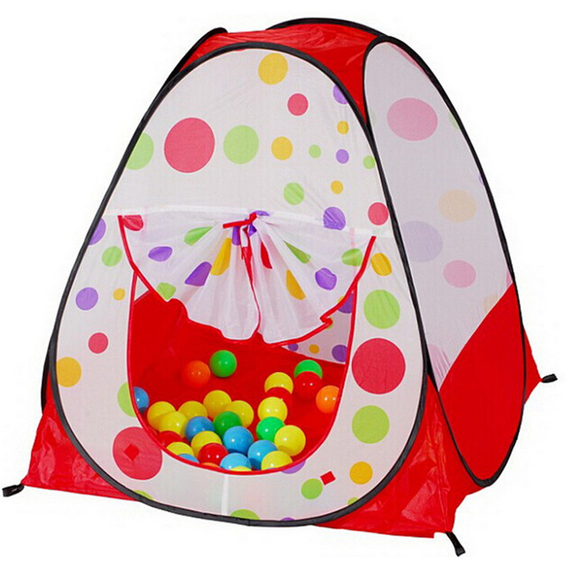 Child gift promotion price children kids play tent cute dots game house baby toy tent indoor & outdoor tent