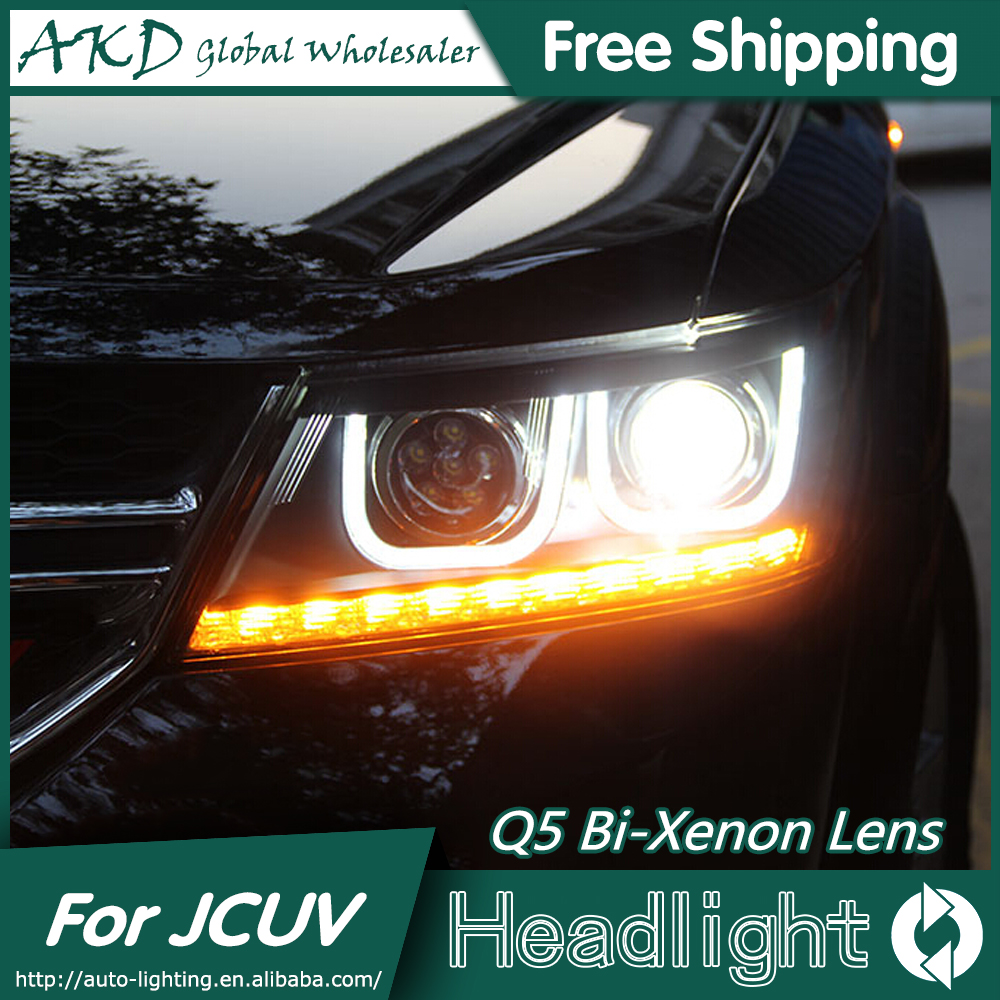 AKD Car Styling for Fiat Freemont Headlights 2012-2015 Freemont LED Headlight DRL Bi Xenon Lens High Low Beam Parking Fog Lamp akd car styling for nissan teana led headlights 2008 2012 altima led headlight led drl bi xenon lens high low beam parking