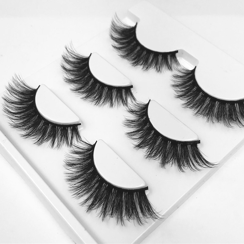 YOKPN 3 Styles Charm 3D Eyelash Extensions Thick Volume False Eyelashes Makeup Tips Black Long Eye Lashes Fashion Fake Lashes