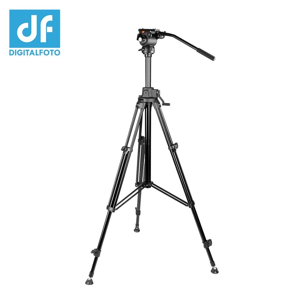 E IMAGE GA230 Professional Alloy aluminum 12kg bear Video tripod with flat base Panoramic GH03F Fluid