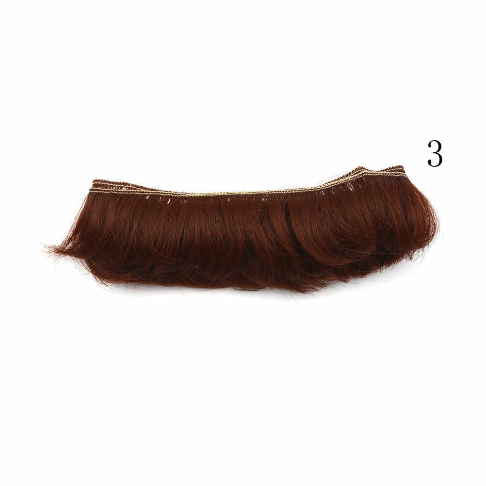 DIY dalga peruk siyah altın üflemeli kıvırcık postiş başına peruk sıcak armut kıvırcık saç bebek aksesuarları noel oyuncak