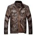 Мужская Мотоцикл Кожаная Куртка и Пальто Ветровка Пиджаки Моды Пальто Размер M-3XL Мужская Одежда 155