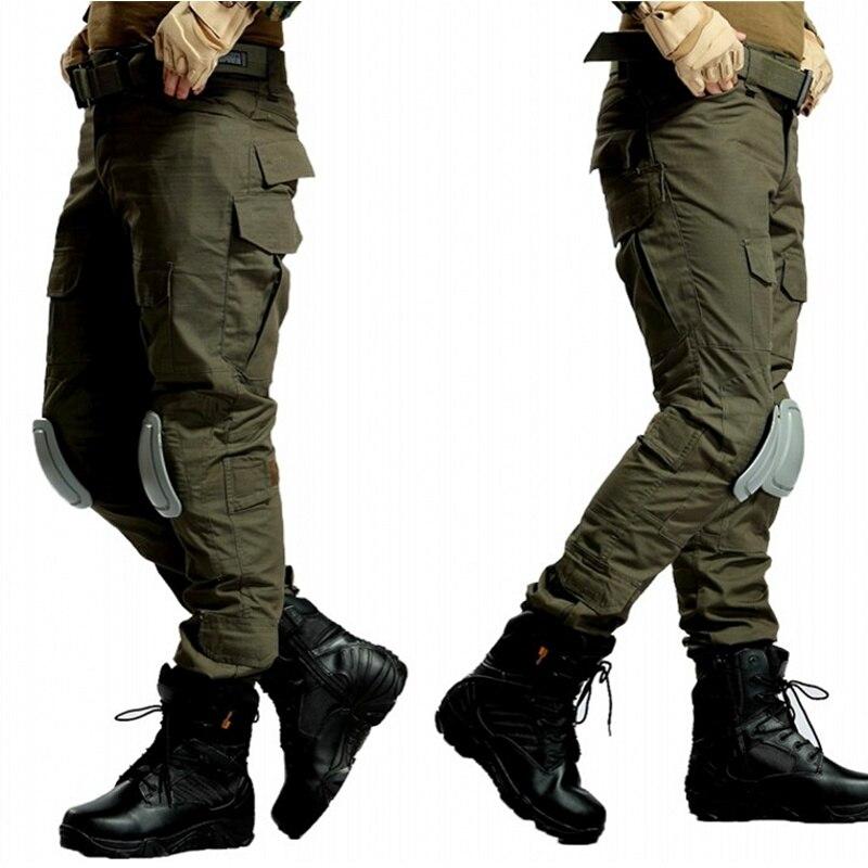 Cqc tático calças de carga dos homens