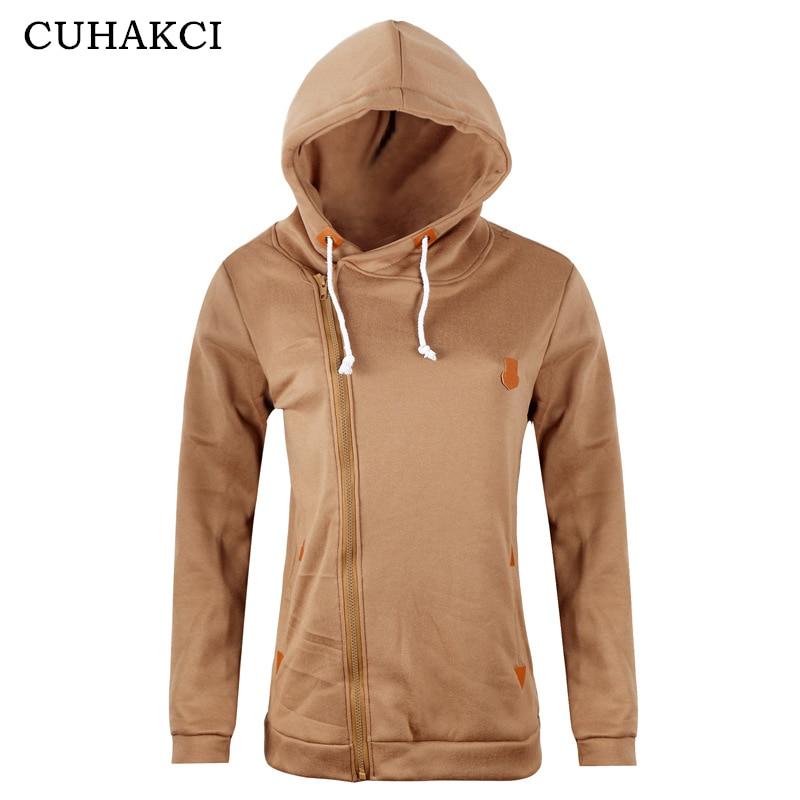 CUHAKCI Female Outerwear Coats Women Casual   Jackets   Warm Autumn Winter Zipper Ladies Cardigan   Jacket   Plus Size   Basic     Jackets