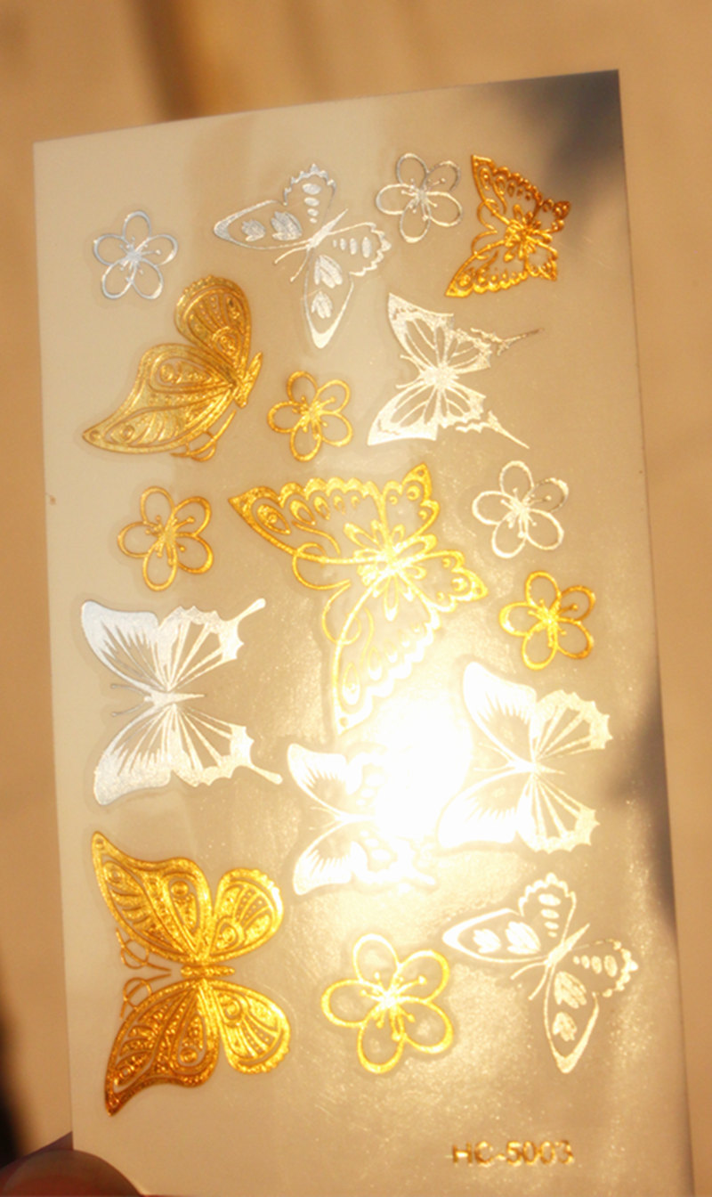 HC SERIES Shing In The Sun Women Makeup Golden Sexy  Temporary Tattoo Stickers