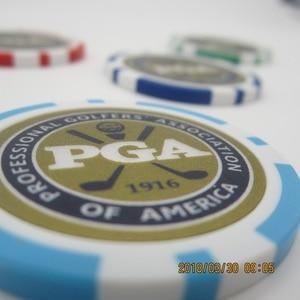 Image 3 - 12EA new design pga golf poker chip ball marker many color 40cm dia 11.5g best seller golf ball marker